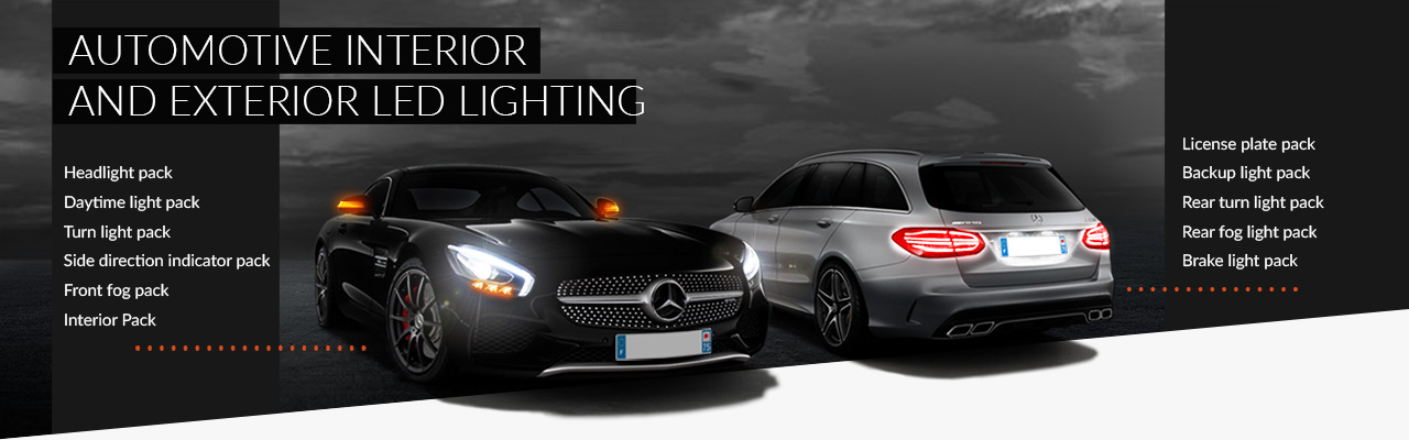 Interior and exterior automotive LED lighting
