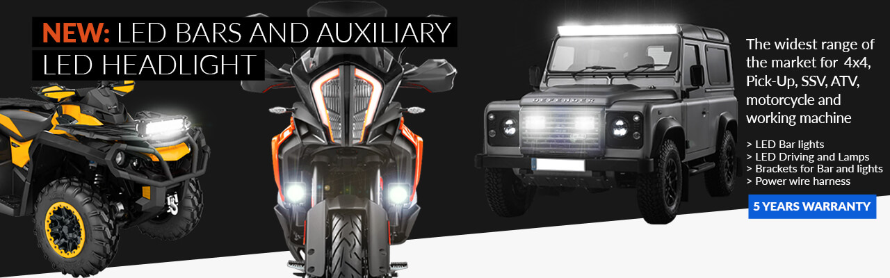 NEW: LED BARS AND AUXILIARY LED HEADLIGHT
