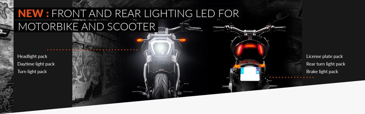 New: Lighting Motorcycle / Scooter Front and Rear LED