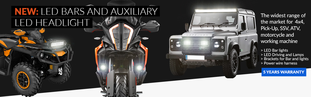 NEW: LED bars and auxiliary LED headlights