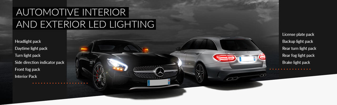 Interior and exterior automotive lighting LED