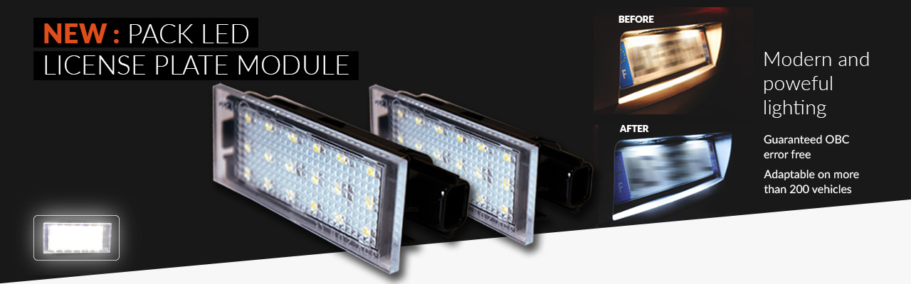 NEW: License plate LED modules