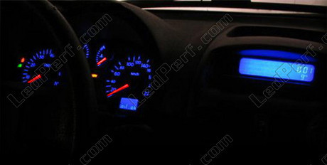 LED Kit for meter/dashboard Renault Clio 2 Phase 2 blue/red/white/green