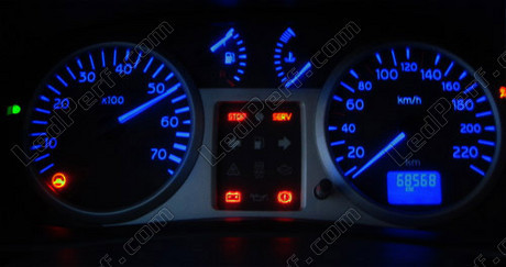led kit for meter dashboard renault clio 2 phase 2 blue. Black Bedroom Furniture Sets. Home Design Ideas