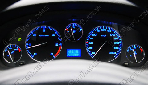 Led meter/dash kit Peugeot 406 PH2 blue/red/white/green