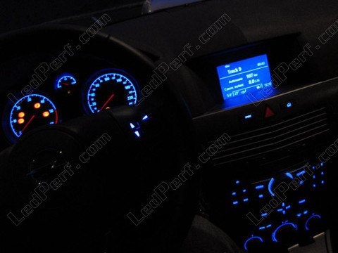 LED Kit for meter/dashboard Opel/Vauxhall Astra H blue/red/white/green