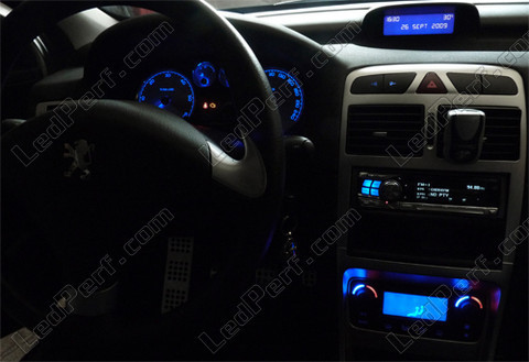 led meter dash kit peugeot 307 t6 blue red white green. Black Bedroom Furniture Sets. Home Design Ideas