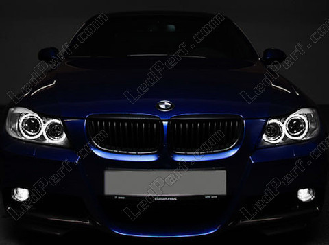 pack led angel eyes rings for bmw 3 series e90 phase 1. Black Bedroom Furniture Sets. Home Design Ideas