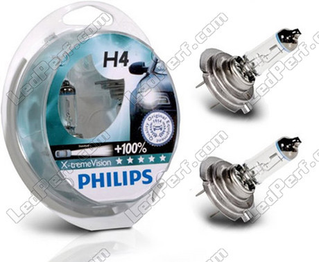 pack of 2 bulbs h4 philips x treme power vision. Black Bedroom Furniture Sets. Home Design Ideas