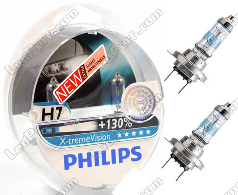 pack of 2 bulbs h7 philips x treme vision 130 px26d