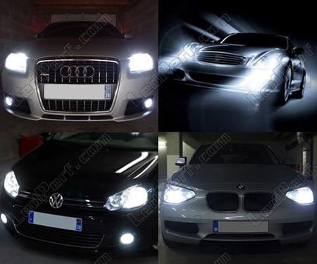 only bke audi drl black led hid xenon yd pro bk model spyder projector headlights