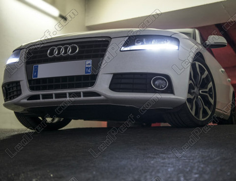 pack led daytime running lights for audi a4 b8 drl. Black Bedroom Furniture Sets. Home Design Ideas
