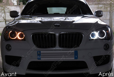 pack led angel eyes rings for bmw x1 e84 mtec v3 0. Black Bedroom Furniture Sets. Home Design Ideas