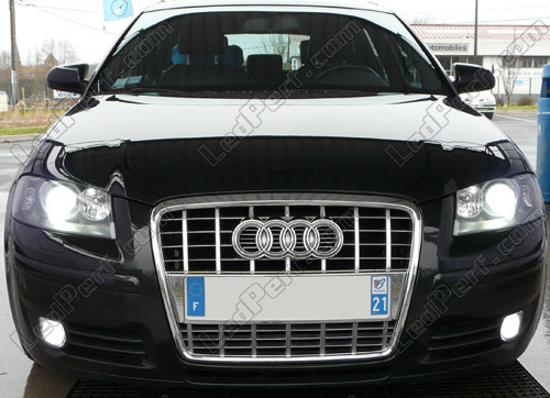 pack bulbs led fog lamps for audi a3 8p h7 h11. Black Bedroom Furniture Sets. Home Design Ideas
