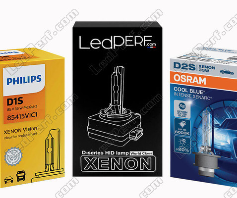Original Xenon bulb for Land Rover Discovery III, Osram, Philips and LedPerf brands available in: 4300K, 5000K, 6000K and 7000K