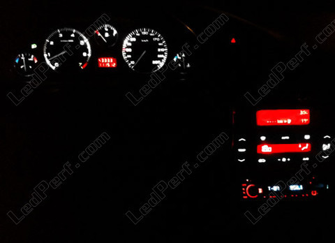 Central lighting console white and red LED for Peugeot 406