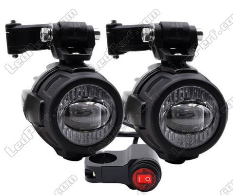 "LED lights light beam Double function ""Combo"" fog and long range for Kawasaki VN 900 Custom"