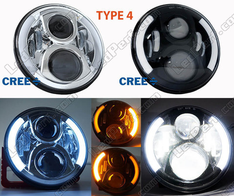 Motorcycle LED Headlight Type 4 With DRL And Turn Signal BMW Motorrad R Nine T Urban GS