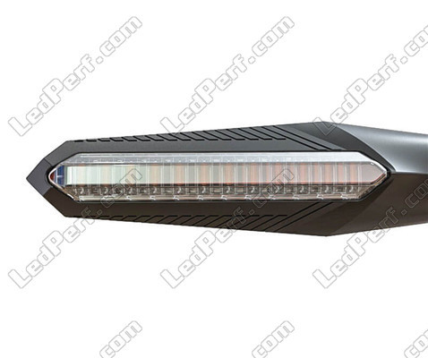 Sequential LED Indicator for Harley-Davidson Fat Boy 1584 - 1690, front view.