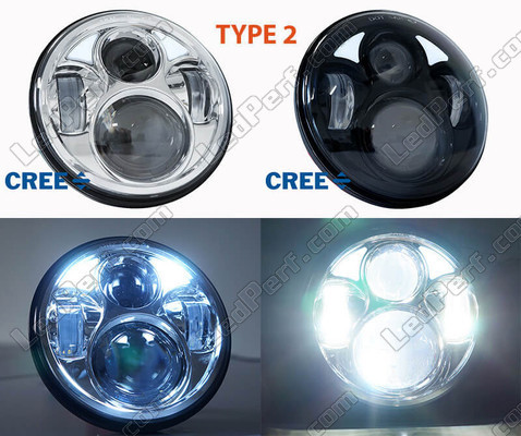 Motorcycle LED Headlight Type 2 With DRL Honda VTX 1300