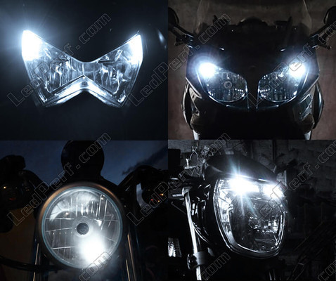 Led Xenon White Sidelights Kawasaki VN 1600 Mean Streak Tuning
