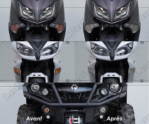 Led Front Turn Signal Kymco Maxxer 300 before and after