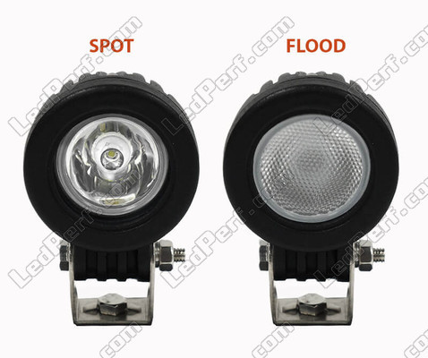 Spot VS Flood Light Beam Yamaha YBR 125 (2010 - 2013)
