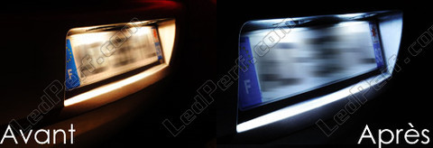 Led Licence Plate Citroen Berlingo before and after