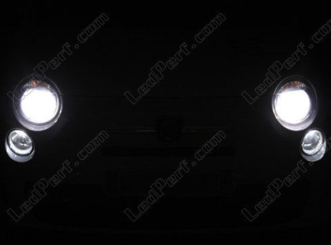 pack headlights xenon effect bulbs for fiat 500 abarth 500. Black Bedroom Furniture Sets. Home Design Ideas