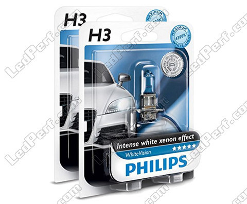 Pack of 2 Philips H3 bulbs WhiteVision