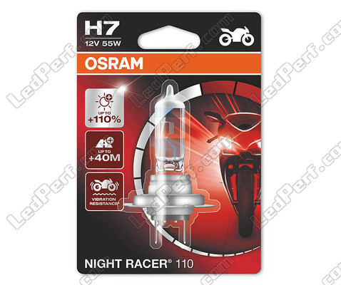 H7 Osram Night Racer 110 special motorcycle bulb, sold individually - Ref: 64210NR1-01B