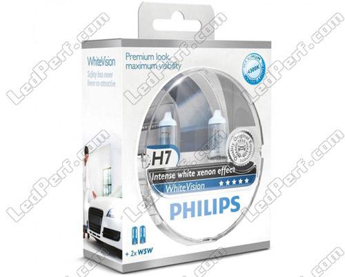 H7 PHILIPS White Vision lampe automobile Lumière plus blanche et W5W 12972WHVSM