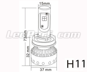 H11 LED bulb Tuning Mini