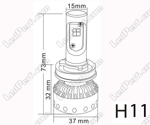 Mini High Power H11 Led Bulb