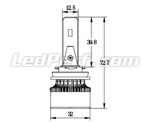 H16 LED Eco Line bulbs compact dimensions