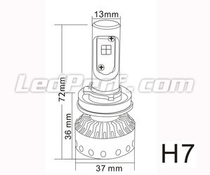 Mini H7 LED Bulbs Tuning