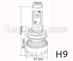 Mini H9 LED Motorcycle bulb motorcycle scooter