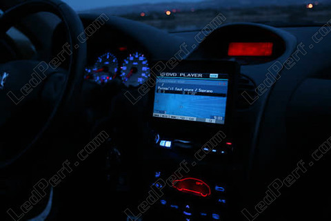 led meter dash kit peugeot 206 mux blue red white green. Black Bedroom Furniture Sets. Home Design Ideas