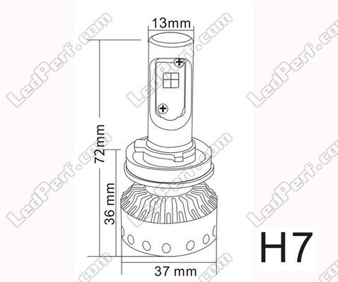 H7 Led Bulbs Conversion Kit Mini Size P 15861