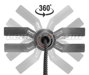 H9 LED Bulb For Motorcycle - Heat Sink