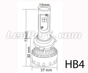 Mini High Power HB4 Led Bulbs