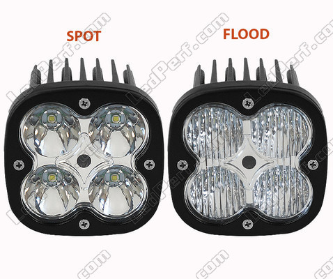Additional LED Light CREE Square 40W For Motorcycle - Scooter - ATV Spot VS Flood