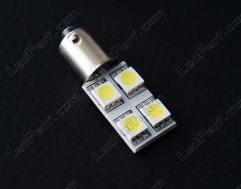 LED bulb BA9S T4W Rotation White xenon effect