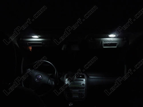 Pack full led interior fiat grande punto and punto evo for Eclairage led interieur