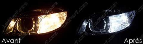 Led Sidelights Xenon White Skoda Roomster