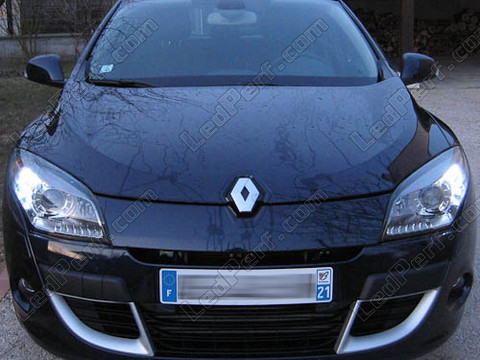 pack led daytime running lights for renault megane 3 drl. Black Bedroom Furniture Sets. Home Design Ideas