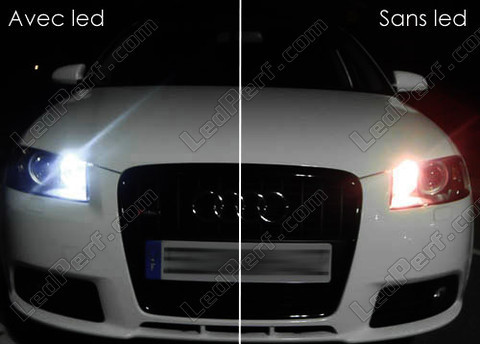 pack led sidelights for audi a3 8p parking lights. Black Bedroom Furniture Sets. Home Design Ideas