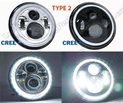 Motorcycle LED Headlight Type 2 With Angel Eye DRL BMW Motorrad R 1200 Montauk