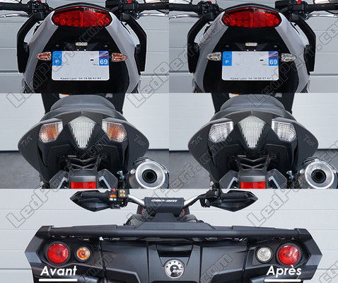 Led Rear Turn Signal Suzuki Inazuma 250 before and after