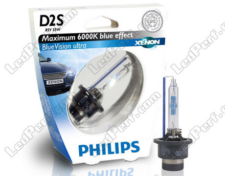 xenon bulb d2s 6000k philips bluevision ultra 85122bvuc1. Black Bedroom Furniture Sets. Home Design Ideas